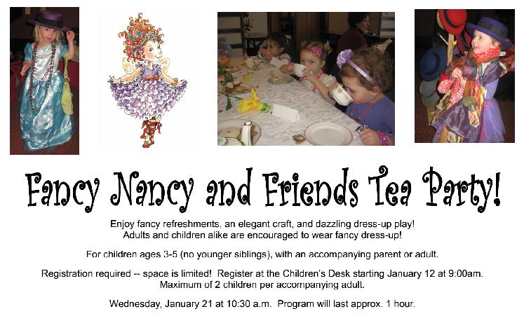 Fancy Nancy Tea Program Flyer