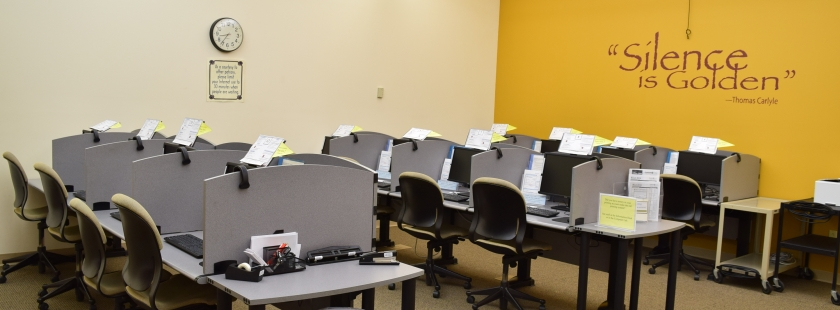 computer lab with old chairs