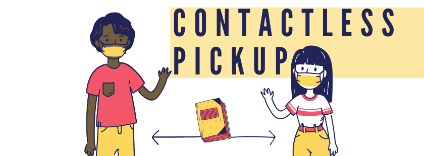 two people waving with contactless pickup